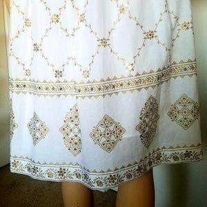 MICHAEL Michael Kors Dresses - MICHAEL KORS White and Gold Sequin Summer Dress